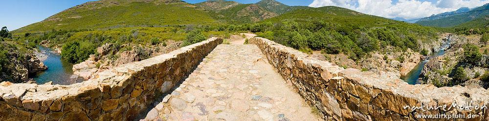 steinerne Brücke über den Fango, Korsika, Frankreich