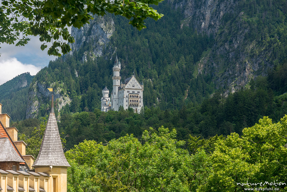 schloss neuschwanstein blick vom schloss hohenschwangau f ssen deutschland naturemotion. Black Bedroom Furniture Sets. Home Design Ideas