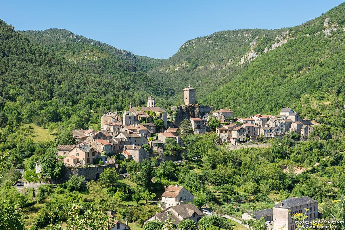 Bergdorf Peyreleau, Gorges de la Jonte, Le Rozier, Frankreich