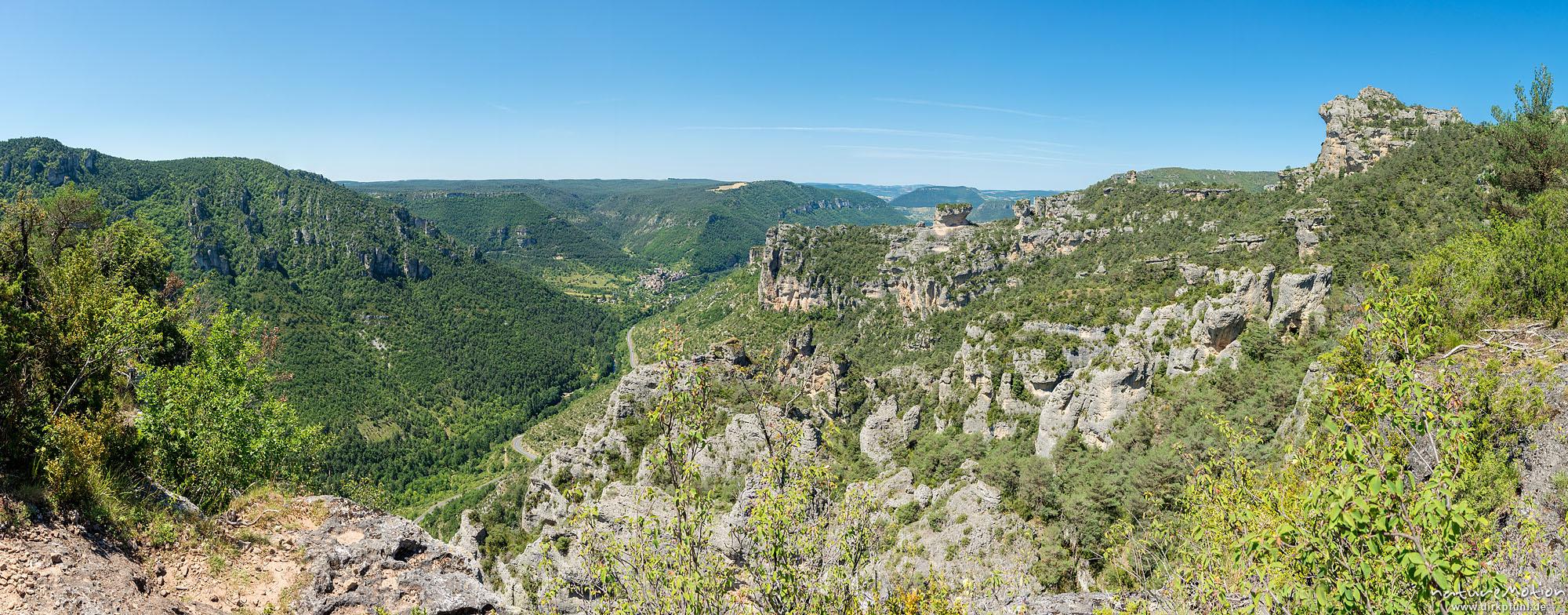 Felsformationen, Tal der Jonte, Felswanderung Schluchtenwelt bei le Rozier, Gorges de la Jonte, Le Rozier, Frankreich