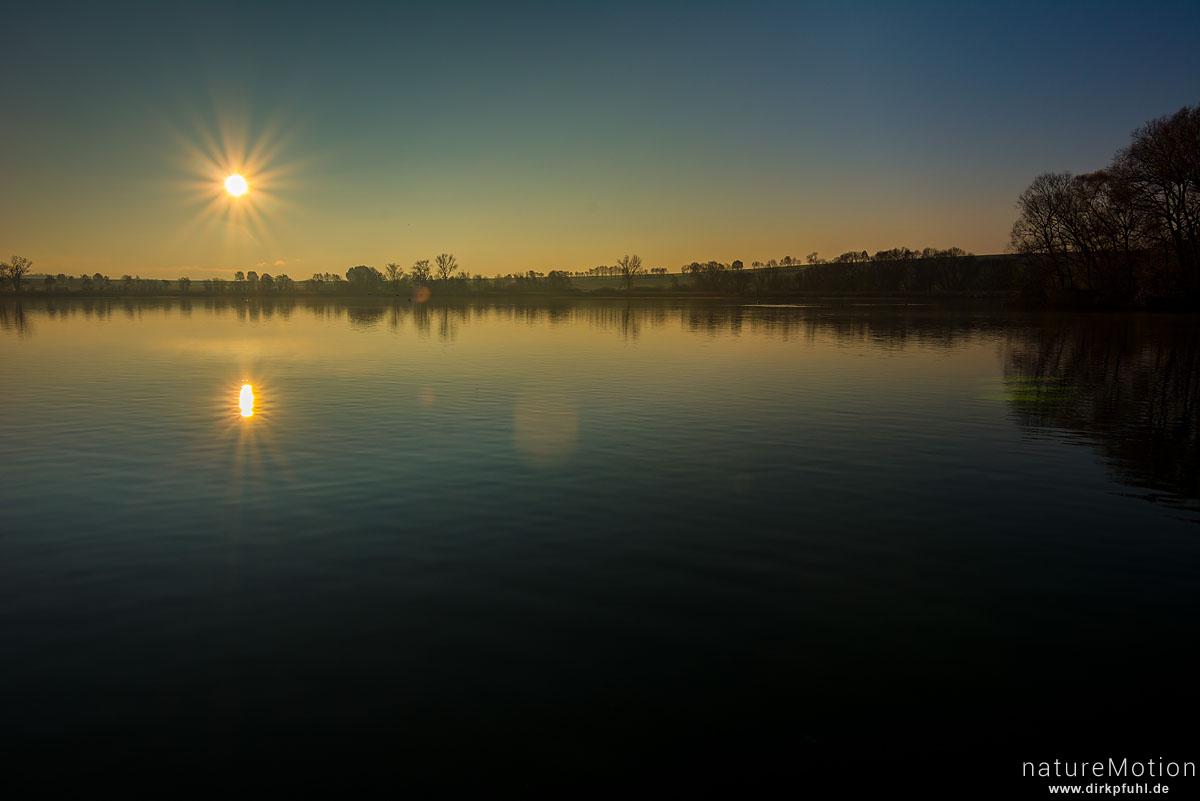 Sonnenaufgang über dem Seeburger See, Seeburger See, Deutschland