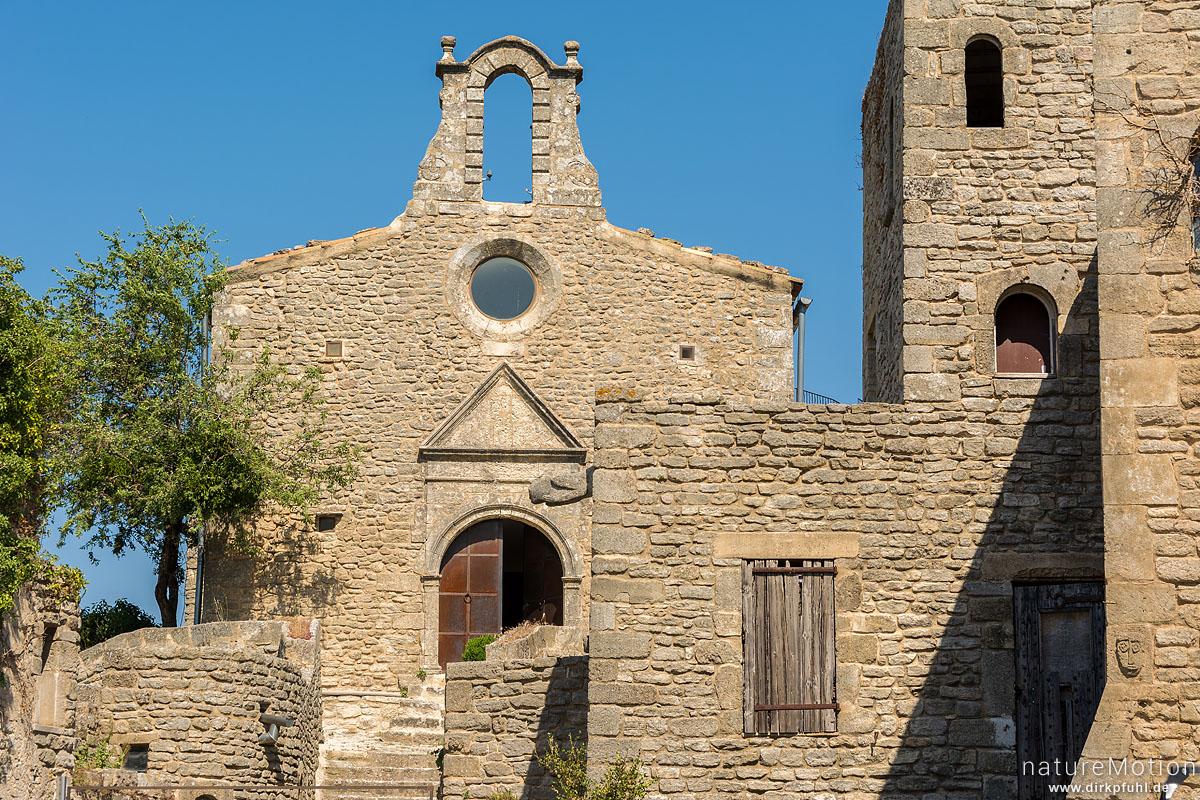 Kirche am Rocher de Bellevue de Saignon, Saignon - Provence, Frankreich