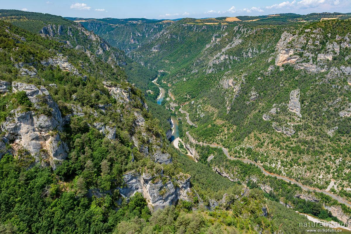Gorges du Tarn, Blick vom Roc des Hourtous, La Malene, Frankreich