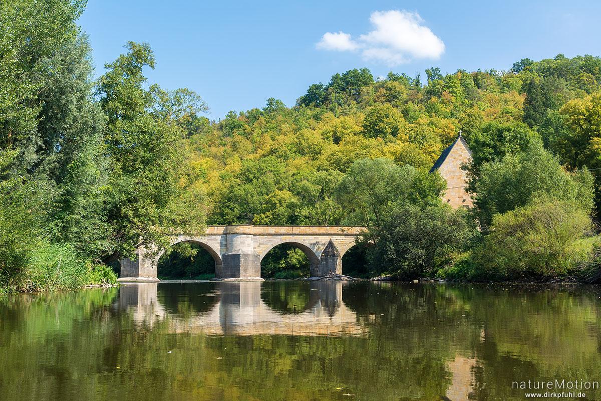 steinerne Bogenbrücke, Liboriuskapelle, Werra, Creuzburg, Deutschland
