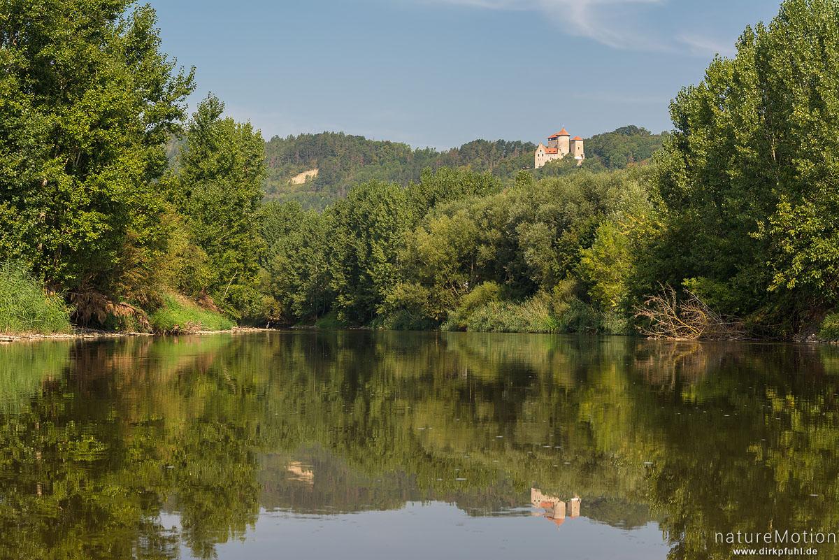 Flusslauf der Werra, Burg Normannstein, Treffurt, Werra, Deutschland