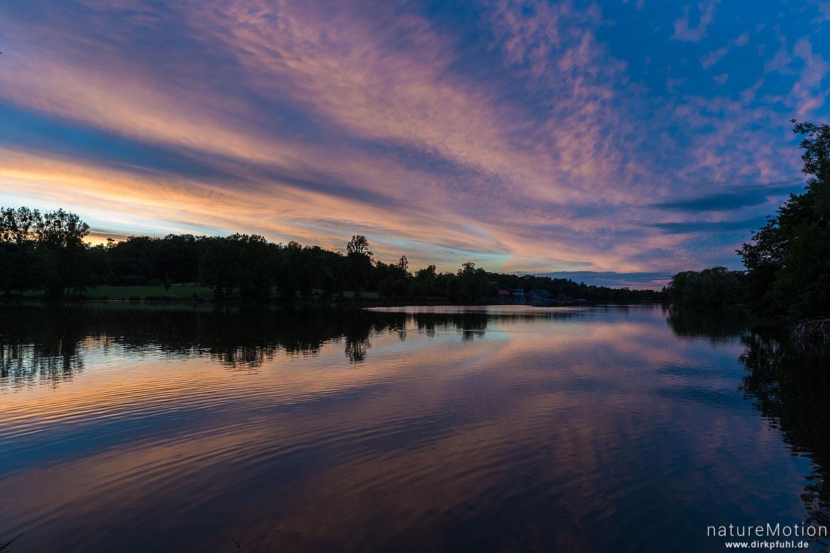 Sonnenuntergang, Kiessee, Göttingen, Deutschland