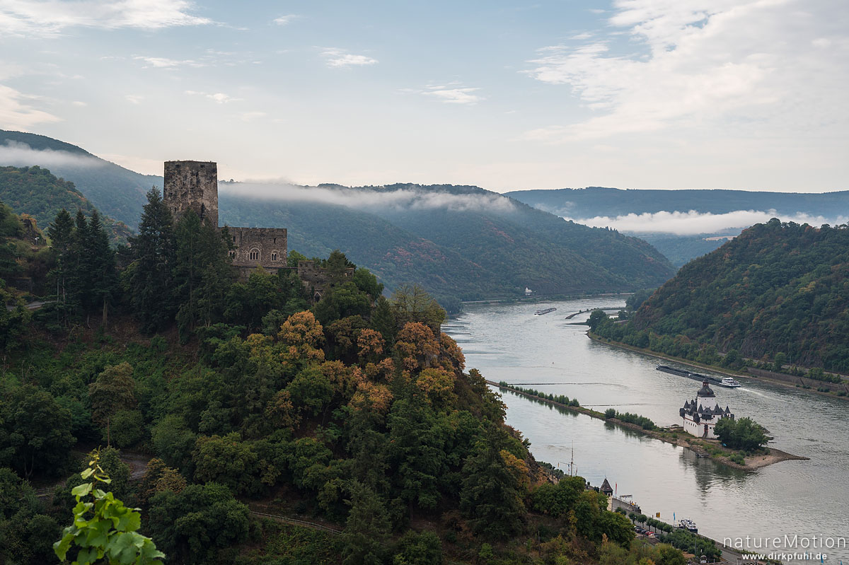 Rheintal, Burg Gutenfels, Burg Pfalzgrafenstein, Kaub, Deutschland