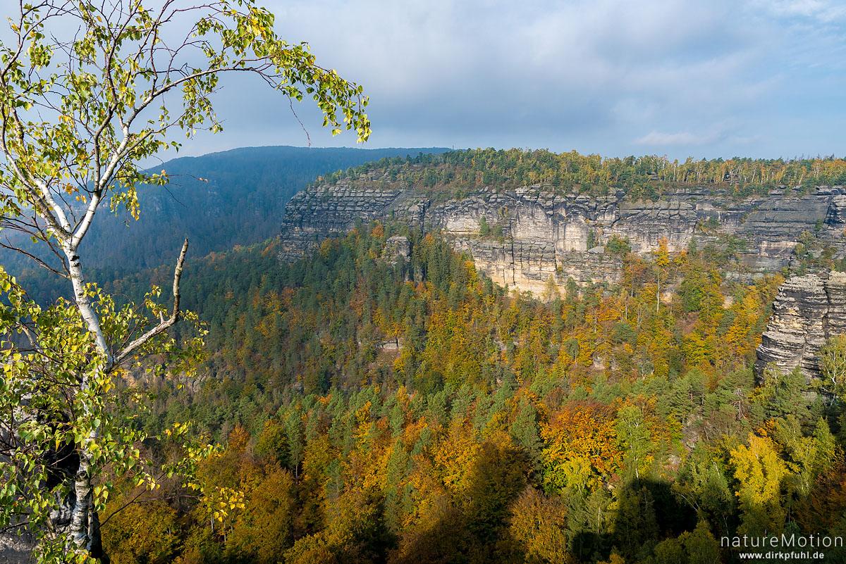 Felswände, Ausblick vom Prebischtor, Hrensko, Tschechien
