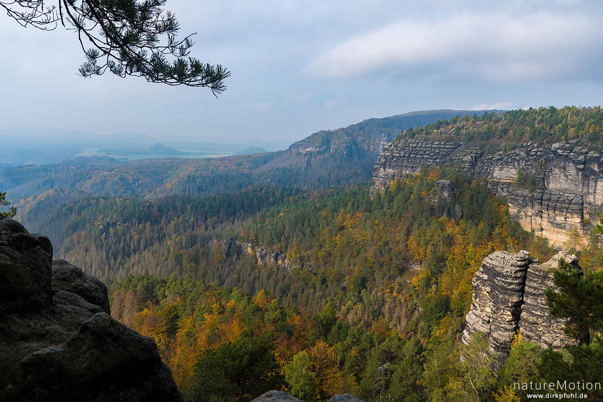 Ausblick vom Prebischtor, Hrensko, Tschechien