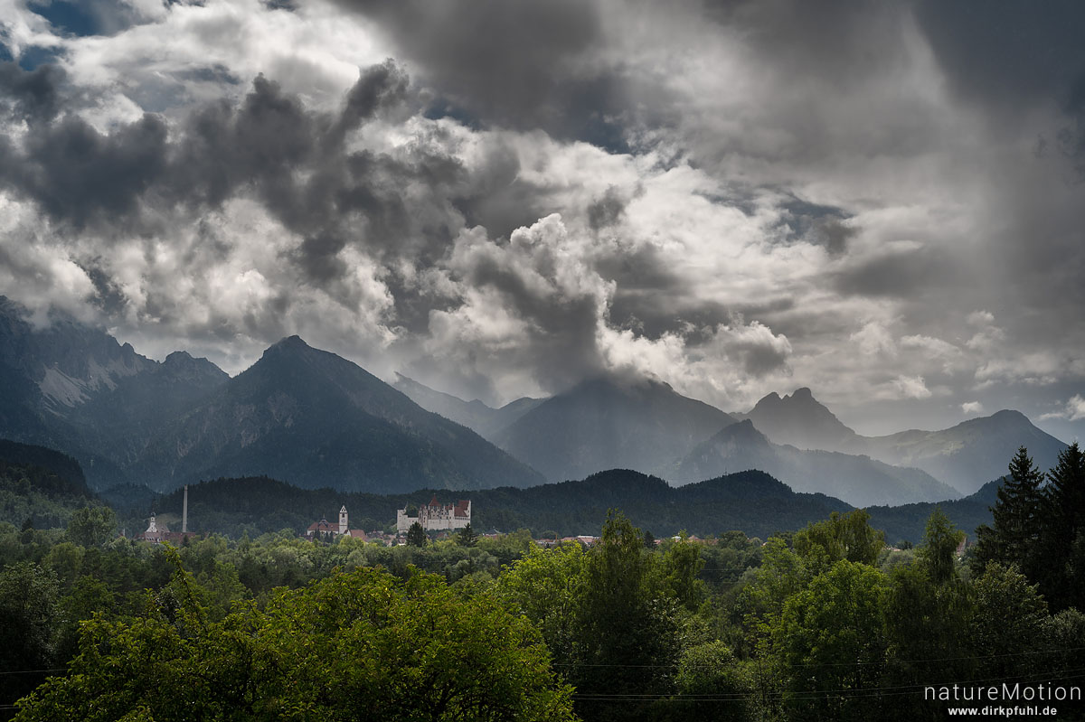 Regenwolken über Füssen, Füssen, Deutschland