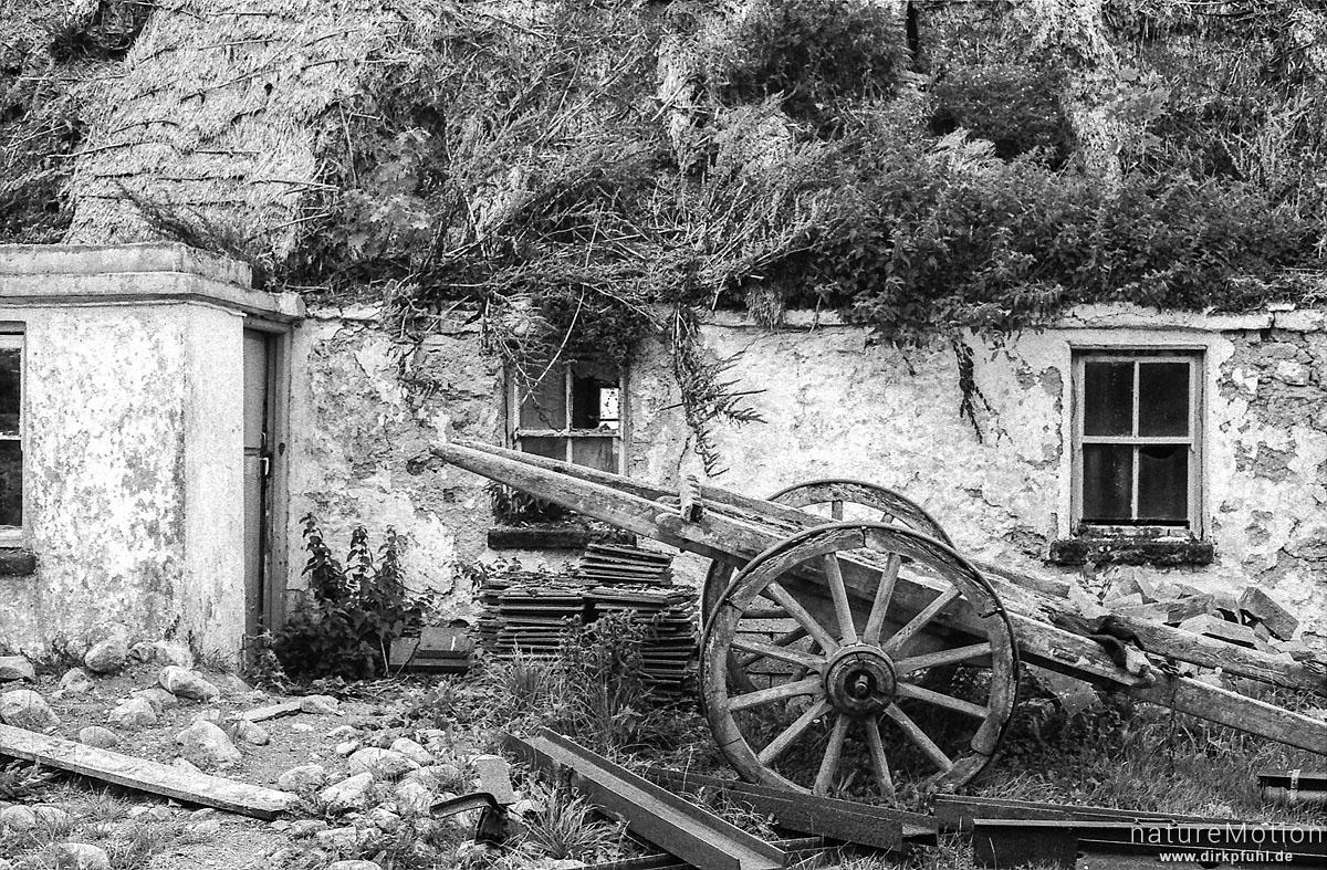 verfallenes Gehöft, Connemara, Irland