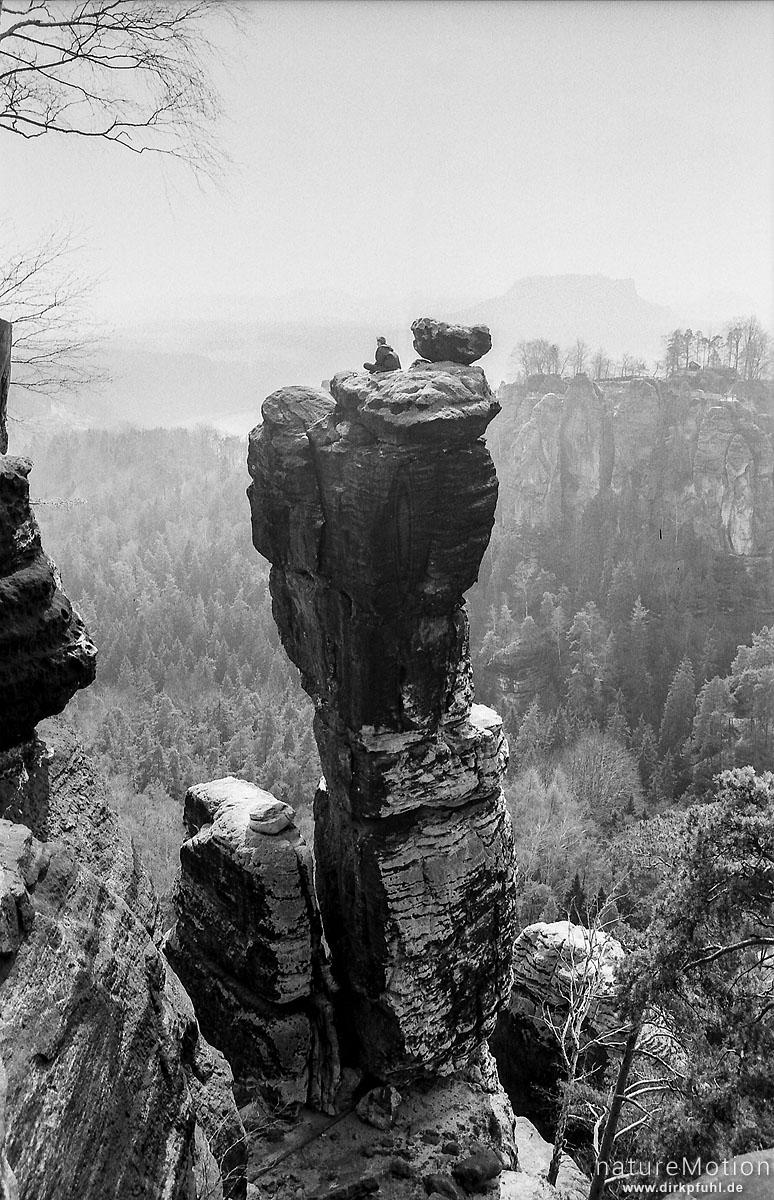 Kletterer, Bastei, Elbsandsteingebirge, Königstein, Deutschland