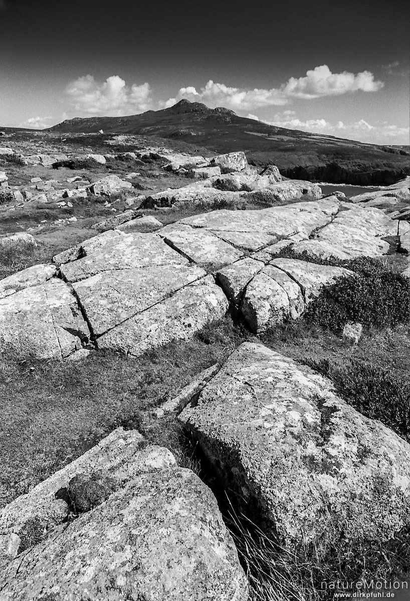 Steinformation, Pembrokeshire Coastpath, Wales, England - Großbrittanien